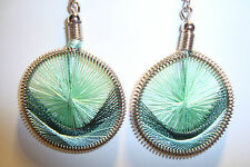 Peruvian Alpaca Silver & Handmade Dreamcatcher Thread  Earrings~NT9~uk seller