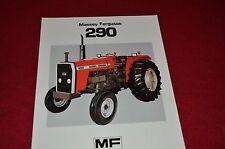 Massey Ferguson 290 Tractor Dealer's Brochure FMD 907-183-25-1