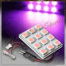 Universal T10 / Festoon 12 SMD LED Interior Dome / Map Light Bulb Panel - Purple