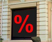 """1 St. Aufkleber """"Prozentzeichen"""" % Schaufensterbeschriftung Prozente Rabatt Sale"""