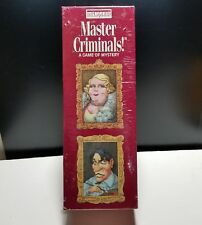 MASTER CRIMINALS A Game of Mystery Bepuzzled 1992 SEALED NIB