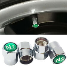 Safety NITROGEN N2 Wheel Tire Valve Stem Caps Simple Chrome Plating Universal