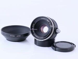 "Canon 35mm F2.8 Leica Screw Mount LTM L39 Lens w/Hood,""MINT-"" From Japan#3421"