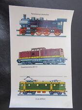 DDR Abziehbilder Eisenbahn-LOKS-BR 110-E-Lok-Dampflok-original