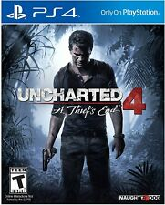 PS4 Uncharted 4: A Thief's End (Sony PlayStation 4, 2016) Game **MINT**