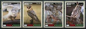 Guinea-Bissau Birds on Stamps 2020 MNH Owls Great Grey Snowy Barn Owl 4v Set