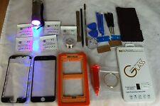 iPhone 7 Plus Negro Profesional Kit de Reparación de Vidrio, Pantalla Frontal