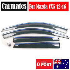 NEW Weather Shield Visor For Mazda CX5 12-16 4 Doors double sided tape Clips AU