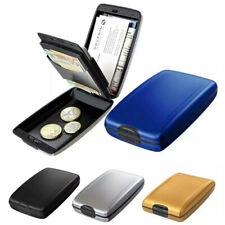Aluminum Metal Anti-Scan Credit Card Holder RFID Blocking Pocket Wallet Case Box