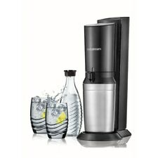 SodaStream Crystal Sparkling Water Maker Black & Metal Brand New