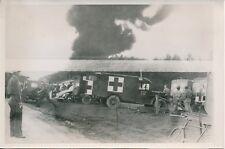ALLEMAGNE 1954 - Secours Ambulances Incendie Aérodrome de l'OTAN Bitburg- PR 605