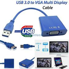 New USB 3.0 to VGA Graphic Converter Card Display Connection Adapter Cable HK
