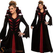 Ladies Vampire Queen Costume Halloween Dracula Vampiress Fancy Dress Outfit