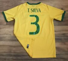 Brasil Brazil National Team Thiago Silva #3 Nike 2014 Soccer Fubol Jersey Small