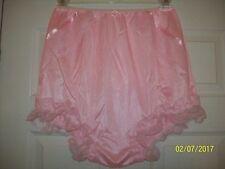 "PINK Nylon Tricot Bloomer SISSY PANTIES - Men or Women  27-42"" Waistband"
