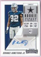 DORANCE ARMSTRONG JR. RC 2018 CONTENDERS ROOKIE TICKET AUTO #215 AUTOGRAPH