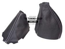 Gear & Handbrake Gaiter For Fiat Barchetta 1995-05 Leather White Stitching