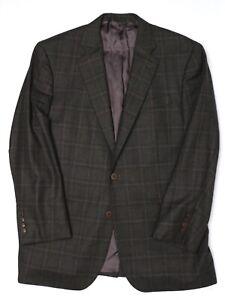 Brooks Brothers 1818 Mens Sport Coat 42R Dark Green Brown Gray Windowpane Jacket