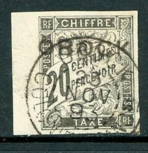 French Colonies 1892 Obock 20¢ Black Postage Due Scott #J12 VFU W209 ⭐⭐⭐