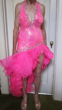 ChrisAnne, London. Ballroom Latin Rhythm Salsa Rumba Samba Show Dance Costume.S