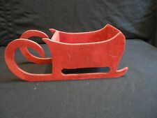 Red Wooden Sled 12 X 4 X 4 1/2 ins.
