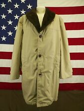 Lake Forest Coat Jacket Fur Lined Men's Tan  Size 42
