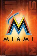 MIAMI MARLINS - LOGO POSTER - 22x34 MLB BASEBALL 14685