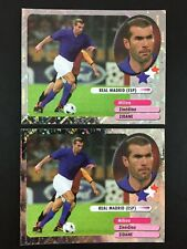 Zinedine Zidane Lot 2 Foil Sticker Panini Foot 2003 / Real Madrid
