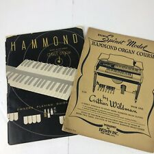Hammond Spinet Organ Owners Playing Guide Model M-100 And Other Book