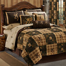 Patchwork Camo & Plaid Bedding Set Browning Country Comforter Shams Skirt Sheets
