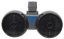 "Rockville DWB65B Dual 6.5"" Negro 600 vatios Marine Wakeboard Sistema de altavoces de torre"