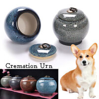 Pet Urn Cremation Ceramics Memorial Jar Cat Dog Ashes Keepsake Container