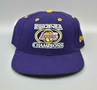 Los Angeles Lakers 2002 NBA Champions New Era Fitted Cap Hat - Size: 7