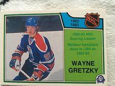 1983-84 O-PEE-CHEE NHL SCORING LEADERS WAYNE GRETZKY #217 EDMONTON OILERS NM+