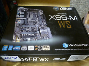 Asus X99-M WS micro-ATX Server Motherboard with USB 3.1 & Wi-Fi onboard (Retail)