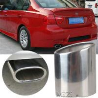 1pcs Car Exhaust Muffler Tip Pipes Stainless Steel For BMW E90 E91 E92 E93 318i