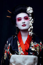 STUNNING CANVAS JAPANESE GEISHA #799 QUALITY CANVAS WALL HANGING PICTURE ART A1