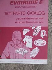 **1974 Evinrude 4 HP Lightwin 4406 Yachtwin 4436 Outboard Parts List Catalog   L