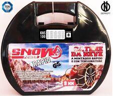 Catene da neve 9 mm Omologazione TÜV - ÖNORM GRUPPO 100  Pneumatici 215/55/R17