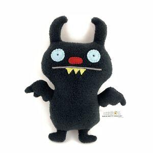 "Ugly Doll 2009 Ninja Batty Shogun Black Bat Plush Stuffed Animal 8"""