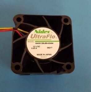 FAN, 40x28 mm, 12VDC, 0.53A, Nidec, UltraFlo, W40S12BUB5, 3 Wire