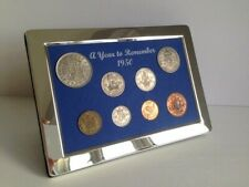 More details for 71st birthday gift. a superb 1950, silver framed, coin year set - gift boxed