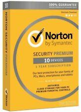 NORTON SECURITY PREMIUM 10 DEVICES 2016 BACKUP PC MAC ANDROID IOS SEALED RETAIL!