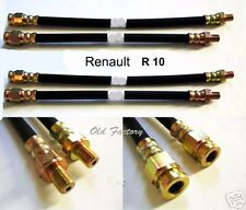 RENAULT R10 1190 front & rear brake hoses set  4 PIECES NEW RECENTLY MADE