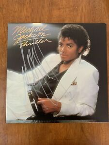 "MICHAEL JACKSON HAND SIGNED AUTOGRAPHED ""THRILLER"" ALBUM CERTIFIED AUTHENTIC COA"
