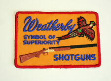Vintage Weatherby Shotguns Symbol of Superiority Shooting Patch New NOS 1970s