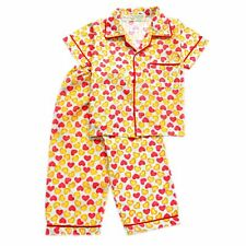 Woven B/D Heart Print #1030 Pajama Set Girls Kids Sleepwear, 2XL (8-10 y/o)