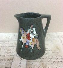 Antique Earthenware Stellmacher Teplitz Gray Pitcher Arabian Ride and Horse*
