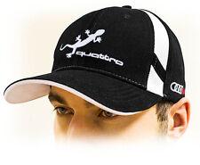 Audi Quattro kappe, Unisex baseball cap / Audi mütze mit Eidechse logo. Schwarz