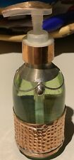Moroccan Hand Made Rose Gold Hammered Glass Pump Soap Dispenser NEW